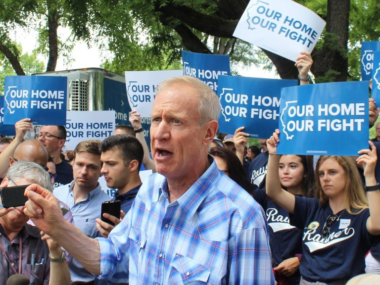 Immigration groups charge Gov. Rauner with flip-flopping on key pieces of legislation. (One Illinois/Ted Cox)