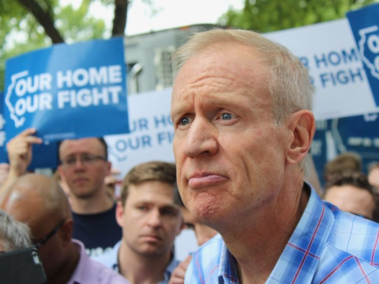 Gov. Rauner doesn't like the state paying to expand Medicaid, but offers no alternative but for workers to get jobs with health care. (One Illinois/Ted Cox)