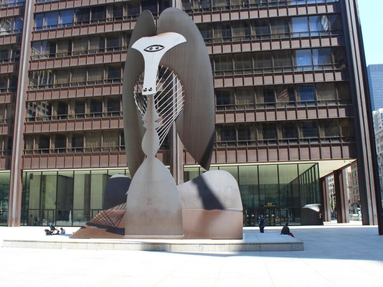 A near-empty Daley Plaza in Chicago makes a statement about the COVID-19 pandemic, but also about Illinois's persistent drop in population. (One Illinois/Ted Cox)